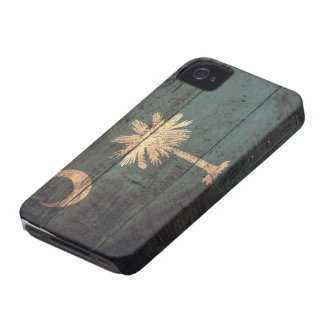Old Wooden South Carolina Flag; iPhone 4 Cover