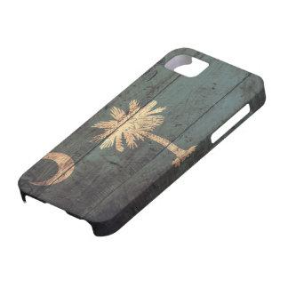 Old Wooden South Carolina Flag; iPhone 5 Case