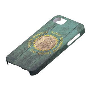 Old Wooden South Dakota Flag iPhone SE/5/5s Case
