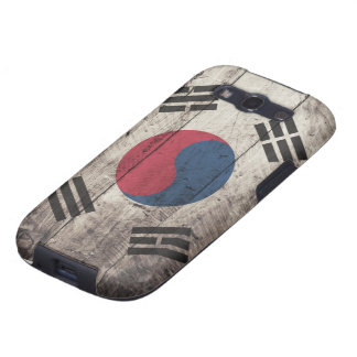 Old Wooden South Korean Flag Samsung Galaxy SIII Cover