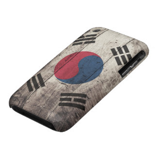 Old Wooden South Korean Flag Case-Mate iPhone 3 Case
