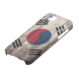 Old Wooden South Korean Flag iPhone 5 Cases
