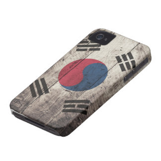 Old Wooden South Korean Flag iPhone 4 Case-Mate Case