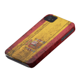 Old Wooden Spain Flag iPhone 4 Case-Mate Case