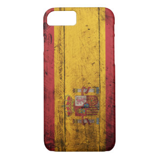 Old Wooden Spain Flag iPhone 8/7 Case