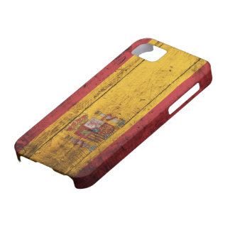 Old Wooden Spain Flag iPhone SE/5/5s Case
