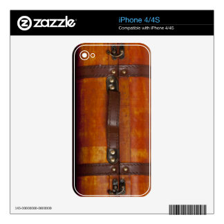 Old wooden suitcase skins for the iPhone 4S