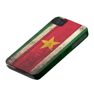 Old Wooden Suriname Flag iPhone 4 Case-Mate Case