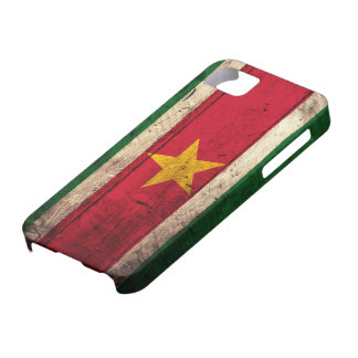 Old Wooden Suriname Flag iPhone SE/5/5s Case