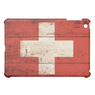 Old Wooden Swiss Flag iPad Mini Covers