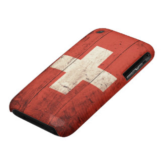 Old Wooden Swiss Flag iPhone 3 Cover