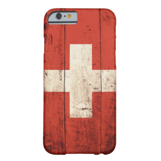 Old Wooden Swiss Flag iPhone 6 Case
