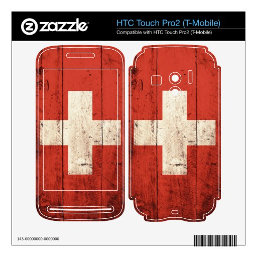 Old Wooden Switzerland Flag HTC Touch Pro2 Skins