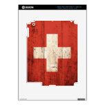 Old Wooden Switzerland Flag iPad 3 Skin