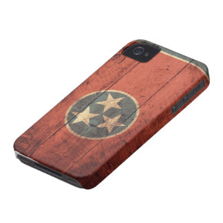 Old Wooden Tennessee Flag iPhone 4 Cover