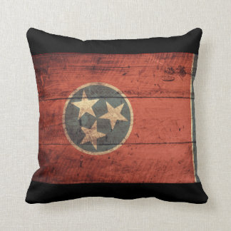 Old Wooden Tennessee Flag Pillow
