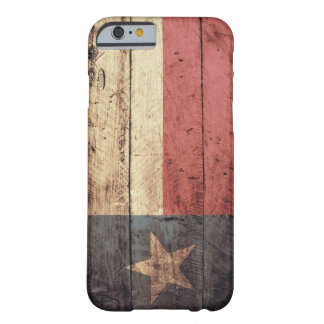 Old Wooden Texas Flag; Barely There iPhone 6 Case