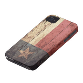 Old Wooden Texas Flag; Case-Mate iPhone 4 Cases