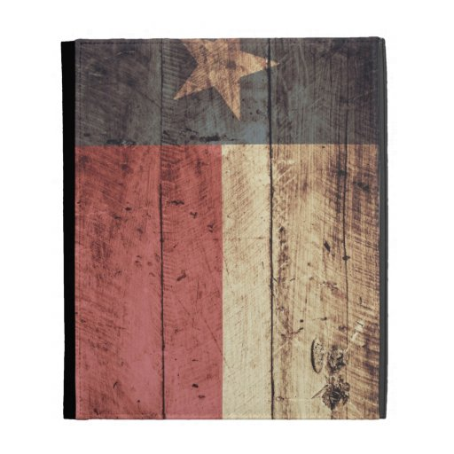 Old Wooden Texas Flag; iPad Folio Covers