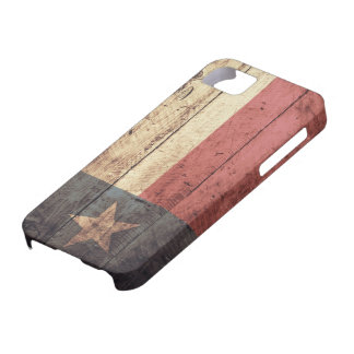 Old Wooden Texas Flag; iPhone 5 Cover