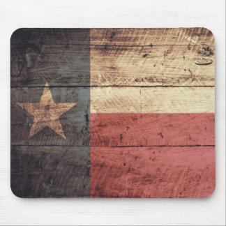 Old Wooden Texas Flag Mouse Pad