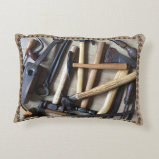 Old Wooden Tools Accent Cushion