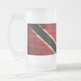 Old Wooden Trinidad Flag; Coffee Mugs