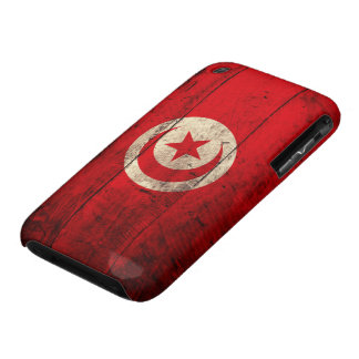 Old Wooden Tunisia Flag Case-Mate iPhone 3 Case