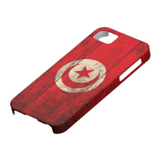 Old Wooden Tunisia Flag iPhone SE/5/5s Case