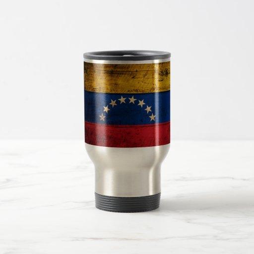 Old Wooden Venezuela Flag 15 Oz Stainless Steel Travel Mug
