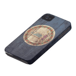 Old Wooden Virginia Flag; Case-Mate iPhone 4 Cases