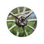 wheel, wooden, wagon, old, panorama, cartwheel,