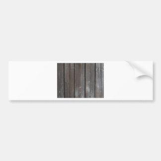 Old Wooden Wall Background Bumper Sticker