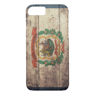 Old Wooden West Virginia Flag iPhone 7 Case