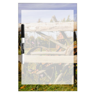Old Wooden Wheels, Rural Photograph Dry Erase Board