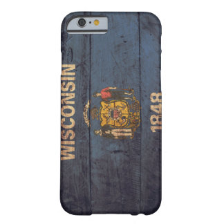 Old Wooden Wisconsin Flag Barely There iPhone 6 Case
