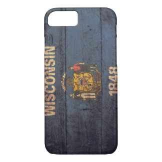 Old Wooden Wisconsin Flag iPhone 8/7 Case