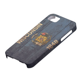 Old Wooden Wisconsin Flag iPhone SE/5/5s Case