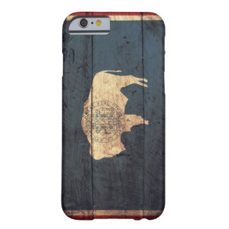 Old Wooden Wyoming Flag iPhone 6 Case
