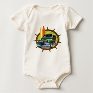 Old Woody Classic Car Baby Bodysuit