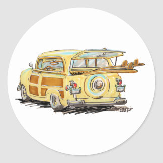 oLd wOOdY Classic Round Sticker