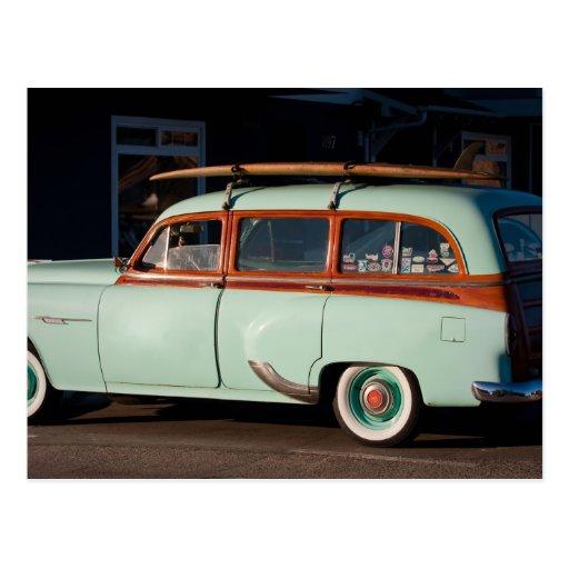 Old Woody Pontiac Postcards