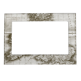 Old World Antique Map Magnet PIcture Frame