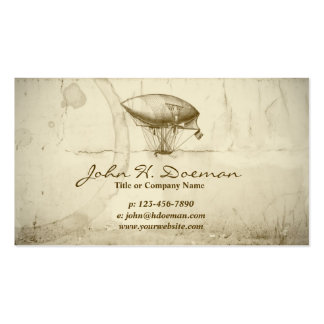 Old World Balloon Business Card Template