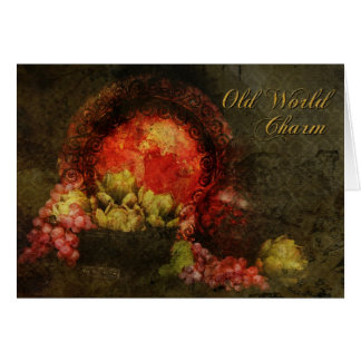 Old World Charm Greeting Card