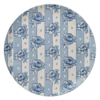Old World Classic Blue Floral Pattern | Plate