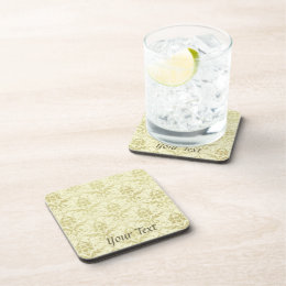 Old World Damask Pattern Beverage Coaster