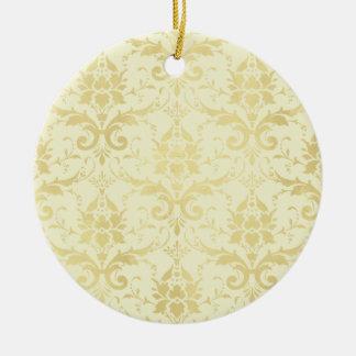 Old World Damask Pattern Ceramic Ornament