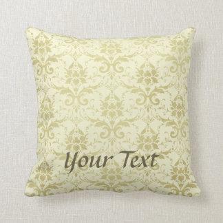 Old World Damask Pattern Throw Pillow