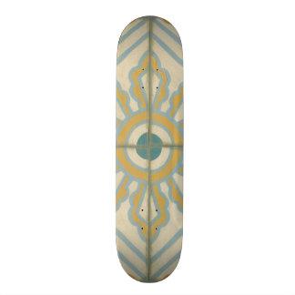 Old World Decorative Tile Pattern Skateboard